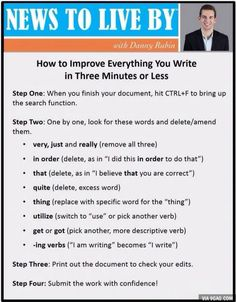 How to improve everything you write in 3 minutes or less.