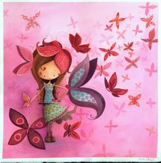 La fille papillon Ketto's butterlfy girl by Ketto Design, via Flickr