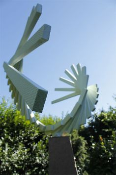 geometric abstract sculpture -
