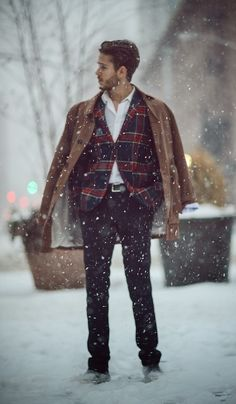 Not your typical idea of a Winter Suit, but hey the Brown Coat made up for that!