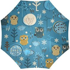 InterestPrint Owl Foldable Travel Umbrella 43 Inch ** You can get more details by clicking on the image. (Note:Amazon affiliate link)