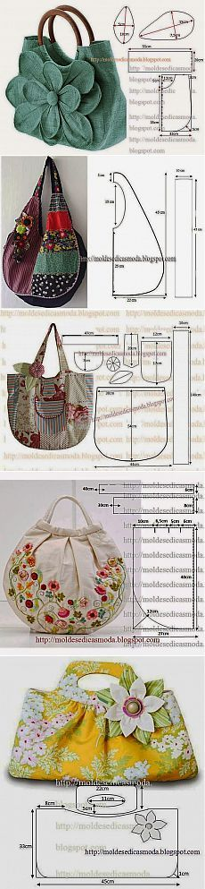 Diy bags 522487994244736787 - carteras Source by belaguero Fabric Crafts, Sewing Crafts, Sewing Projects, Purse Patterns, Sewing Patterns, Denim Bag Patterns, Tote Pattern, Crochet Patterns, Sewing Hacks
