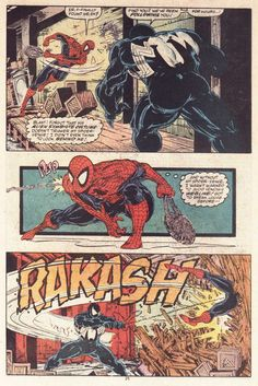 A classic confrontation between Spider-Man and Venom - Amazing Spider-Man 316