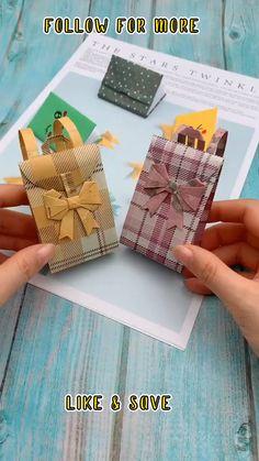 Diy Crafts Hacks, Diy Crafts For Gifts, Diy Home Crafts, Diy Arts And Crafts, Cool Paper Crafts, Paper Crafts Origami, Diy Paper, Fun Crafts, Instruções Origami