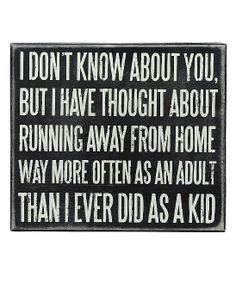 'Running Away' Wall Sign | Daily deals for moms, babies and kids