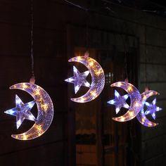 #Lichterkette für #weihnachten mit 5 Halbmonden und Stern  #Halbmond #lichterkette zur #Dekoration #weihnachten #weihnachtsdeko #weihnachten #dekoration #dekoration #weihnachten #fenster #lichterkette #weihnachten