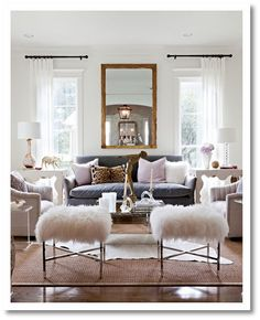 white rustic living rooms - Google Search