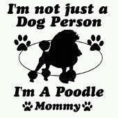 I am a Poodle Mommy!