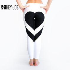 c5f27a13296 HEYJOE Heart Pattern Mesh Splice Legging Harajuku Athleisure Fitness  Clothing Sportswear Elastic Sporting Leggings Women Pants