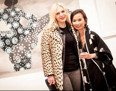 Annabel and my mother in law Josie Natori this past February. RIP Annabel Tollman