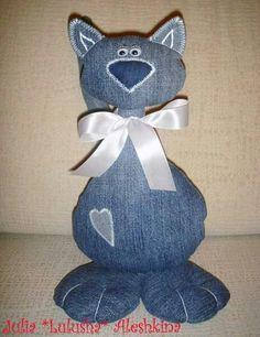 Idée couture chat en jean... ...