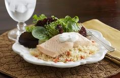 How To Cook Salmon: Poached Salmon with Vegetable Couscous Salmon Dip, Asian Salmon, Honey Salmon, Salmon And Asparagus, Pan Seared Salmon, Grilled Salmon, Baked Salmon, Salmon Marinade, Teriyaki Salmon