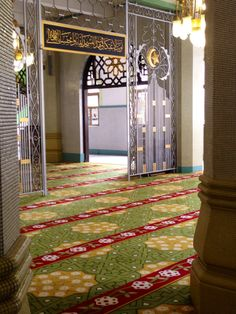 Lovely interior of Masjid Sultan Singapore, Rugs, Interior, Travel, Home Decor, Voyage, Homemade Home Decor, Indoor, Types Of Rugs