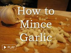 Learn how to mince garlic using a chef's knife. Find more about garlic and recipes that use minced garlic at www.liveeatplay.colostate.edu/eat