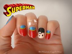 Superman nail art