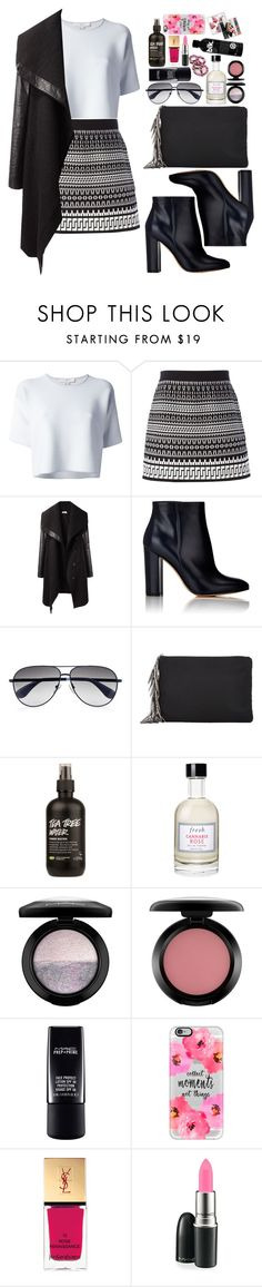 """""""No"""" by vanessasimao1999 ❤ liked on Polyvore featuring Alexander Wang, DKNY, Helmut Lang, Gianvito Rossi, Marc by Marc Jacobs, Barneys New York, Fresh, MAC Cosmetics, Casetify and Yves Saint Laurent"""