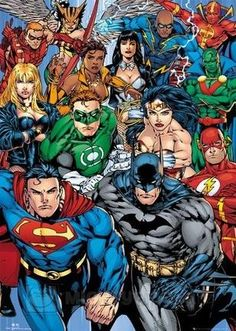 Buy DC Comics Justice League Poster online and save! DC Comics Justice League Poster The Justice League of America is the DC Universe's most powerful and premier superhero team, a strike force comp. Marvel Dc Comics, Dc Comics Poster, Comic Poster, Dc Comics Superheroes, Dc Comics Characters, Dc Comics Art, Comic Art, Comics Girls, Dc Heroes