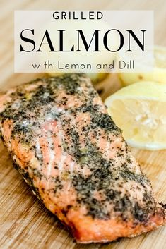 Salmon recipes 556335360217282119 - This Grilled Salmon recipe is bright and fresh with the flavors of lemon and dill. This post is also full of tips to help you make perfectly grilled salmon every time! Source by agoudalife Dill Recipes, Grilled Salmon Recipes, Grilled Seafood, Grilled Fish, Seafood Recipes, Fresh Salmon Recipes, Wild Salmon Recipe Baked, Grilled Salmon Marinade, Grilled Salmon Seasoning