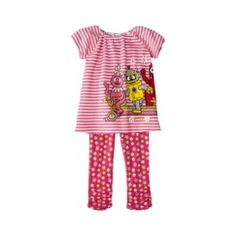 Yo Gabba Gabba Infant Toddler Girls' 2 Piece Set - She is obsessed with this show