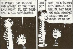 I like looking at the stars