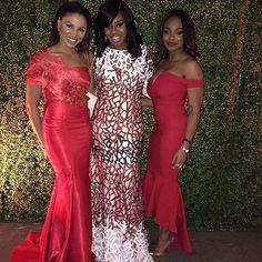 Guest Inspiration. pic via @nigerianweddings #reddress #dressinspiration #welove