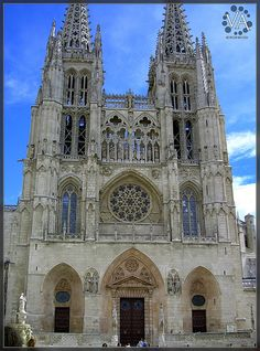Burgos Cathedral (western facade), Burgos, Spain was built ...