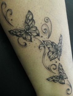 Butterflies ankle tattoo by Ray Tutty   Flickr - Photo Sharing!