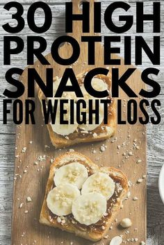 Whether youre looking for healthy low carb breakfast on the go ideas need 100 calorie snacks to help you lose weight or need easy portable snacks to eat before or after a workout weve got 30 high protein snacks that are not only delicious but that 100 Calorie Snacks, Healthy Protein Snacks, High Protein Recipes, Healthy Drinks, Low Carb Recipes, Healthy Eating, 100 Calorie Breakfast, Healthy Food, Breakfast Healthy