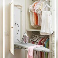 Sem espaço para tábua de passar roupas ?!? Olha só a solução para pequenos espaços