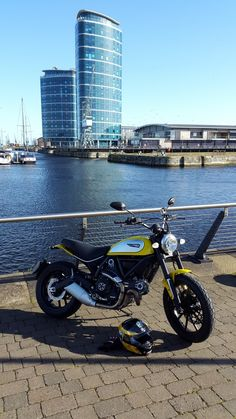 Here are some sweet photos of the Yellow Ducati Scrambler Icon