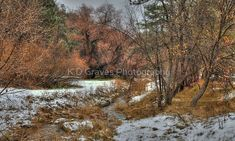 """""""Snowy Streambed"""" by K D Graves Photography   Redbubble Stream Bed, Prescott Arizona, Curtain Accessories, Long Hoodie, Decorative Throw Pillows, Travel Mug, Country Roads, Photography, Accent Pillows"""