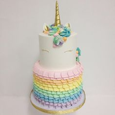 Our unicorn cake just got bumped up a notch! Cake by @francesmencias @kyongs_cakesncrafts