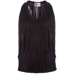 LANVIN Fringe vest featuring polyvore women's fashion clothing tops tank tops blouses perrie clothes perrie edwards lanvin