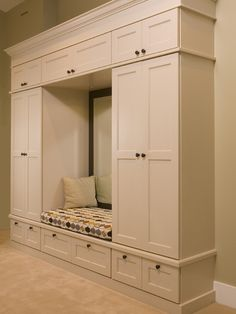 Mudroom- perfect placement for a mirror - the last glance before you're out the door.