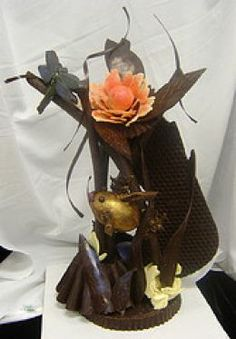 Chocolate Sculptures | Chocolate sculpture. Image courtesy of Flickr.com:Carabou; through a ...