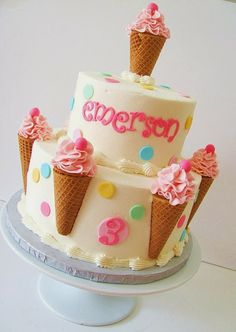 Fun Ice cream cone cake