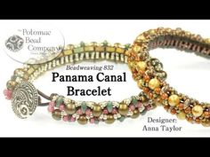 "Make Potomac Bead Company's "" Panama Canal "" Bracelet (Part 1) - YouTube, all supplies from www.potomacbeads.com"