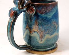 the STRAIGHTUP one of a kind LARGE MUG by Herksworks on Etsy