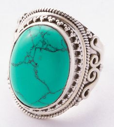 Turquoise Jewellery – 925 Sterling Silver Turquoise Ring MCR-4020 – a unique product by Midas-Jewelry on DaWanda