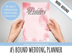 Ultimate Wedding Planner A5 Organizer Book Blush Gold Watercolors