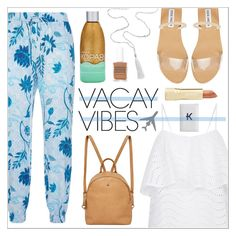 """""""Beach Please: Vacay Outfit"""" by leinapacheco ❤ liked on Polyvore featuring Seafolly, Steve Madden, Kopari, Urban Originals, Axiology, Mark & Graham, BeachPlease and vacayoutfit"""