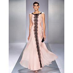 Formal Evening/Prom/Military Ball Dress Trumpet/Mermaid Bateau Floor-length Chiffon Dress – EUR € 129.99