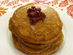 Vegan pumpkin pancakes,