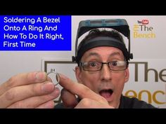 How To Solder A Tube or Bezel Setting Onto A Ring And Do It Correctly - YouTube