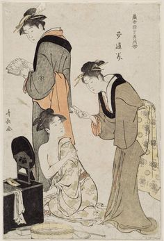 Torii Kiyonaga  Title:The Southeast (Tatsumi), from the series Contest of Contemporary Beauties of the Pleasure Quarters (Tôsei yûri bijin awase)  Date:1783