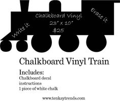 CHALKBOARD WALL DECALS