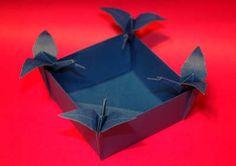 Origami de Cesta para Ovos de Páscoa