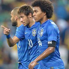 Willian, Neymar and Dani Alves  Brazil national football team