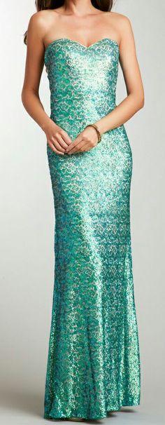 Mint Sequin Gown