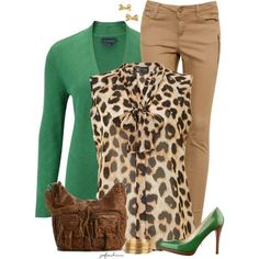 Green & Leopard Contest (2), created by jafashions on Polyvore